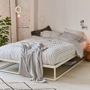 Urban outfitters reversible striped duvet cover